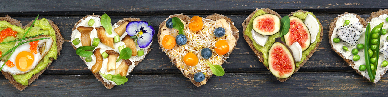 Heart shaped toast with BC inspired ingredients. Buy local.