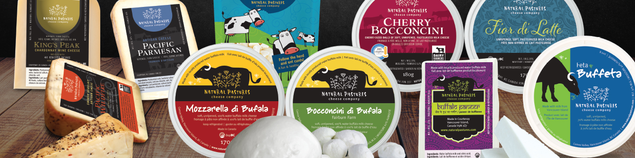 Ask us for recommendations. Various of our cheese products are pictured here.